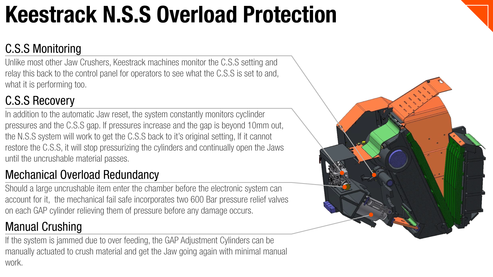 Non Stop System - Keestrack Jaw Overload Protection System